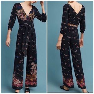 New Anthro Feather Bone Nara Floral Jumpsuit 6